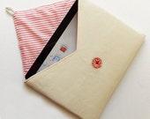 iPad Case personalized, ipad mini, iPad Sleeve, iPad Cover, envelope, italian postage