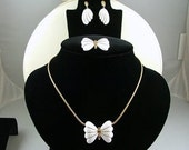 CROWN TRIFARI Butterfly Demi Parure Necklace Brooch Earrings