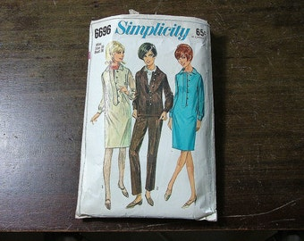 1966 SIMPICITY Sewing Pattern 6696 Size 16 Bust 36