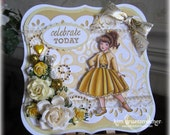 Handmade Dancing the Night Away in Gold Card using SCACD stamp