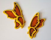 Butterfly Wall Hangings, Universal Statuary, Chicago 1973
