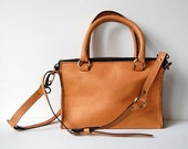 Caramel Sophia Bag 10 inch - Handstitched leather handbag