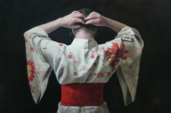 Floral Kimono by Stephanie Rew - Giclee Print