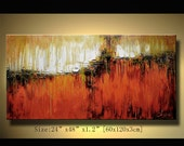 Original Abstract Painting, Modern Textured Painting,  Palette Knife, Home Decor, Painting Oil on Canvas  by Chen 088