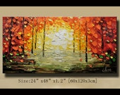 Original Abstract Painting, Modern Textured Painting,  Palette Knife, Home Decor, Painting Oil on Canvas  by Chen 089