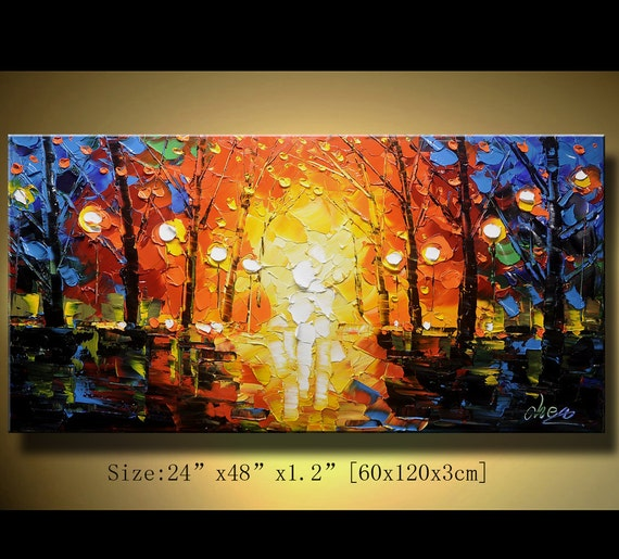 Original Palette Knife Abstract Painting, Modern Textured Painting,  Painting Oil on Canvas,Home Decor, by Chen 0112