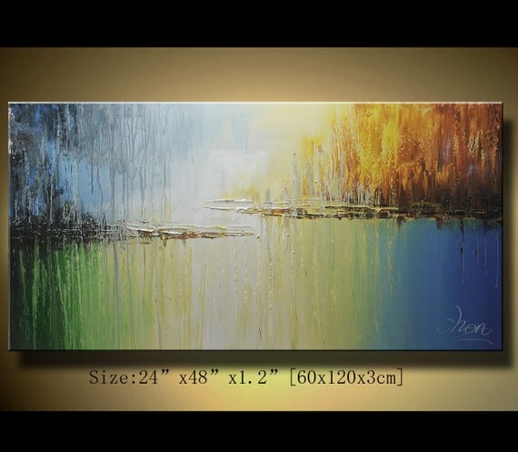 Original Abstract Painting, Modern Textured Painting,  Palette Knife, Home Decor, Painting Oil on Canvas  by Chen 0133