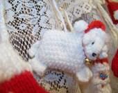 Heavenly Ewe Christmas Ornament Handknitted