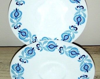 vintage POOLE Pottery ...MOROCCO POOLE Saucers set of 2  ...