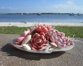 Tropical Sea Shell Flower Centerpiece