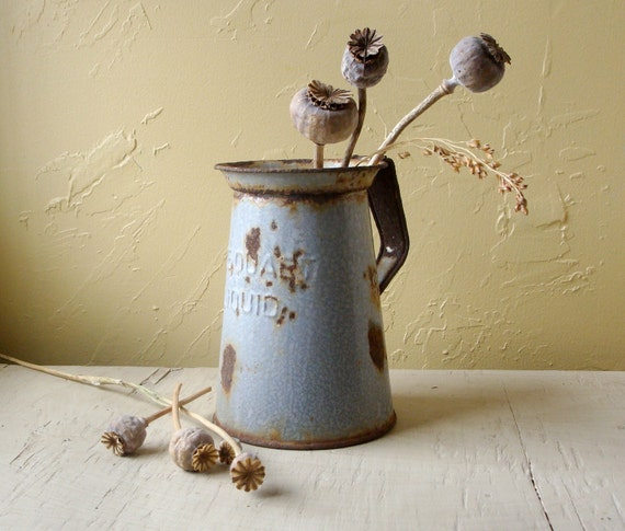 Shabby Chic farmhouse pitcher aged to perfection