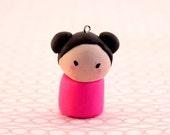 pink japenese chibi girl (charm)