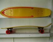 "SALE Fiberglass Skateboard Vintage 70's Huffy Thunderboard Slalom Board banana deck bmx surfing tracker g&s sims acs bennett ""dog town"""