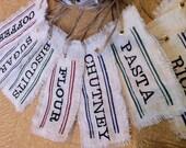 Custom Embroidered Jar Labels (Set of 6 )