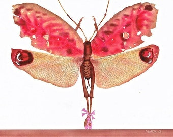 "Winging It On the Pirouette - Blank Greeting Card (5"" x 7"") - Dancing Bug  - BugArtAlley, by Mattie O."