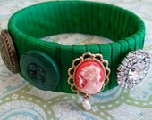 EMERALD DELIGHTS Ribbon Wrapped Bracelet