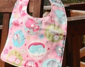 TODDLER BIB: Cats on Pink, Personalization Available