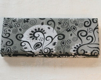 Magic Wallet - Billfold Silver, Grey & Black Swirls
