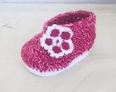 CROCHET PATTERN Baby Booties Flower, 4 sizes newborn to 12 month, (Pdf file)