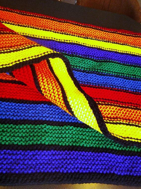 verkauf stricken decke bunte weiche gro e gestrickte rainbow. Black Bedroom Furniture Sets. Home Design Ideas