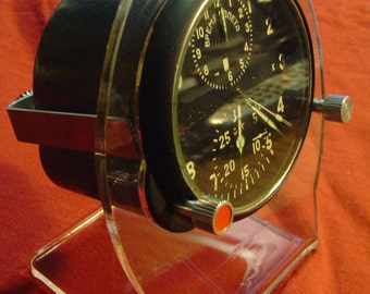 Aircraft clock stand,su mig clock-  CLOCK STAND for vintage military clocks-laser cut