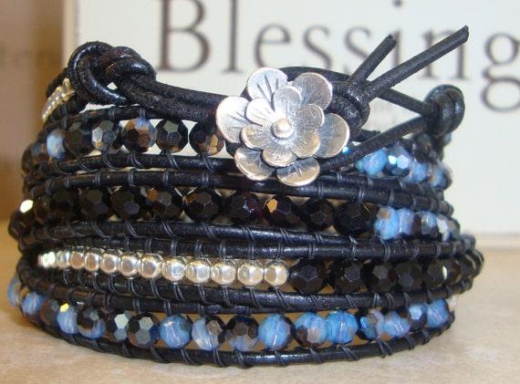 Blue Jean Baby -  Wrap bracelet
