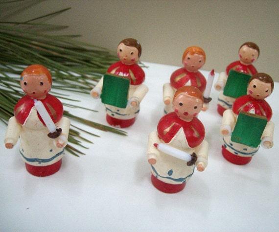 Vintage Christmas 1960s Choir Set of 6