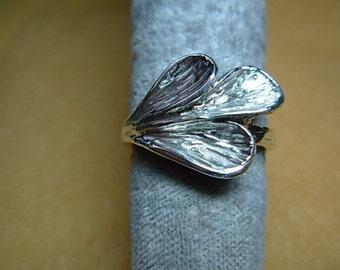 Leaf ring ( 925 sterling silver )
