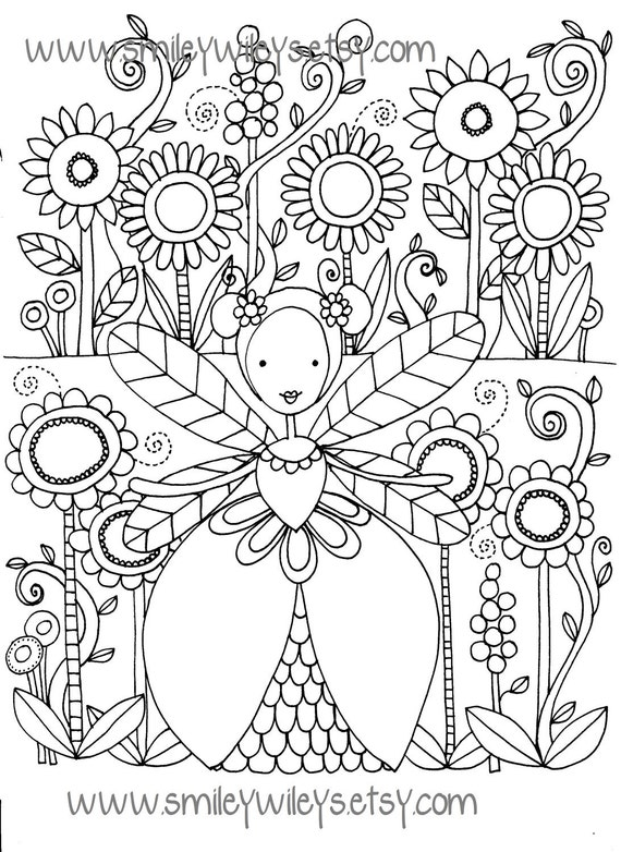 garden pixie coloring pages - photo #23