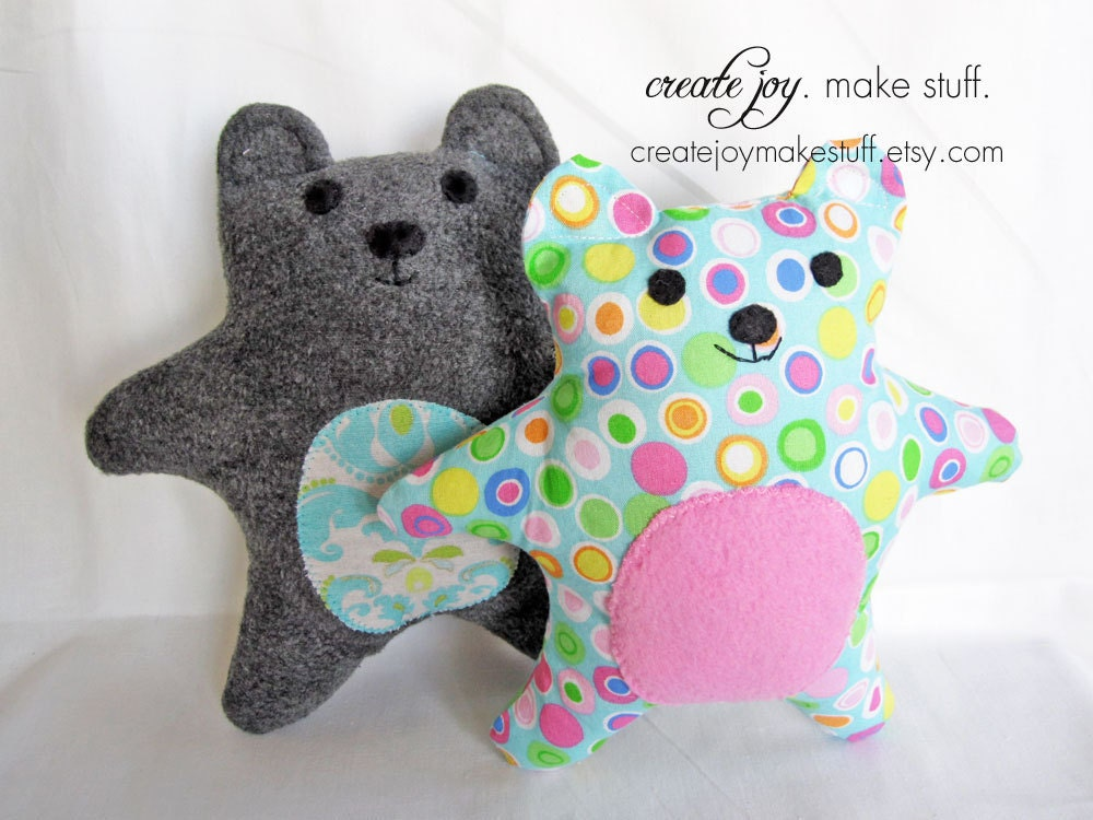Baby Bear Sewing Pattern PDF printable by CreateJoyMakeStuff