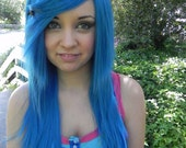 Aquatic Dream / Aqua Blue / Long Straight Layered Wig