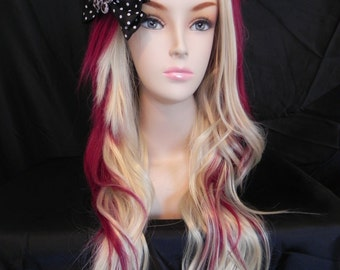 Strawberry Cheesecake / Auburn Red and Blonde / Long Curly Wavy Layered Wig