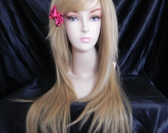 Champagne / Dirty Honey Blonde / Long Straight Layered Wig