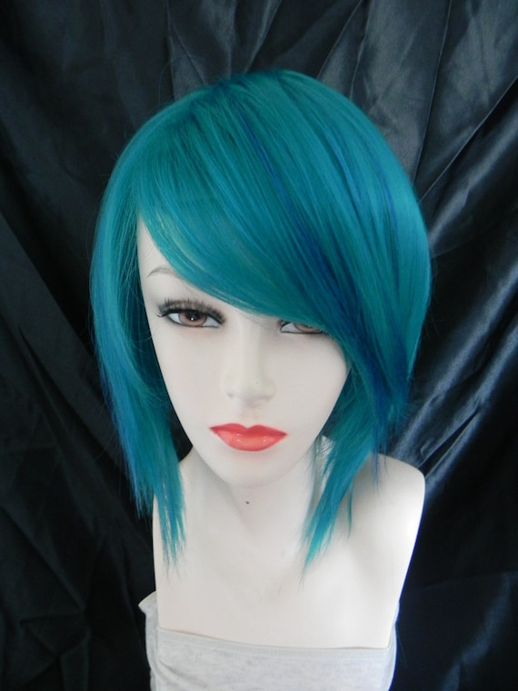 Wild and Reckless / Teal / Short Straight A Line Wig, Lightweight, Refreshing, Summer Style, Heat Resistant