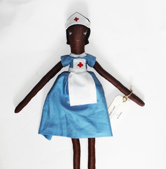 Esther Nurse Ragdoll: Cloth,Sewing, Handmade from Vintage and Recycled Materials