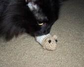 Catnip filled hamster cat toy