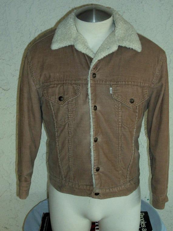 Vintage Levi's Sherpa Lined Corduroy Jacket size 40