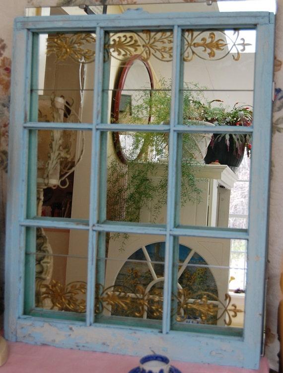 20% Sat & Sun Vintage  Blue  Window Frame Free Ship in US