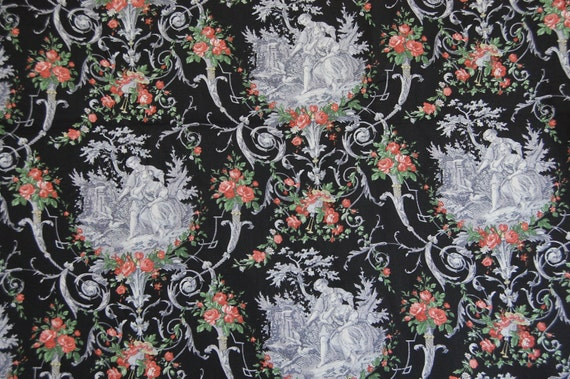 Cotton Toile Fabric Stunning Free Ship in US.