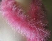 "Fabulously Glam Pink  ""Feathery"" Scarf"