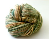 Hand dyed recycled lambswool yarn