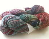 Hand dyed recycled wool yarn worsted weight