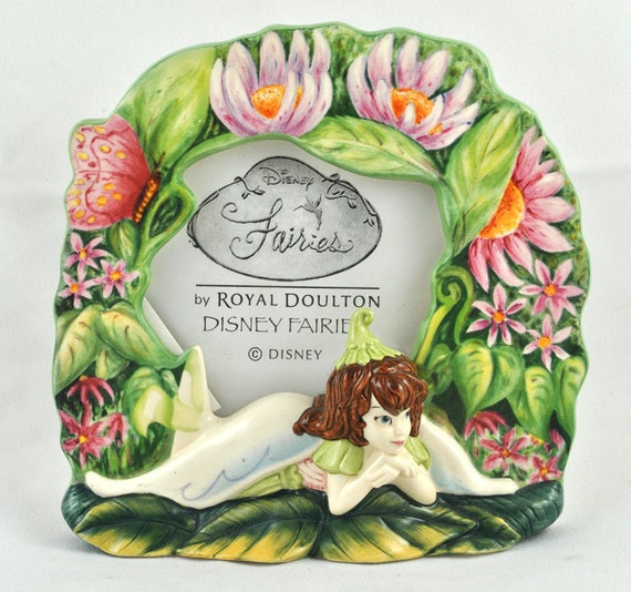 FREE SHIPPING Christmas Holiday Gift  Disney Picture Dream Fairy Fairies  Royal Doulton Picture Frame Nursery Babies Room Home Decor