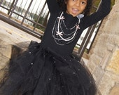 Beautiful Black TuTu Embellished with Pearls