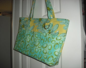 HB10 Yellow/aqua/green purse