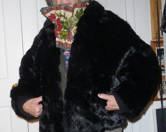Rabbit FUR black jacket *CLEARANCE*