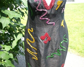 Beaded halter dress by Patricia Evans NY REDUCED