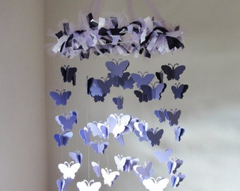 Chandelier butterfly mobile