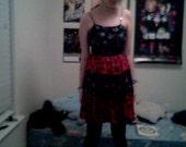 Red and black skull dress