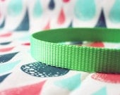 """Bright Green Dog Collar 3/4"""" Wide with Quick Release Buckle"""